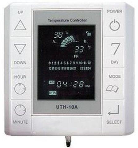 Терморегулятор для пленочного инфракрасного пола UTH-10A. Встраиваемый монтаж