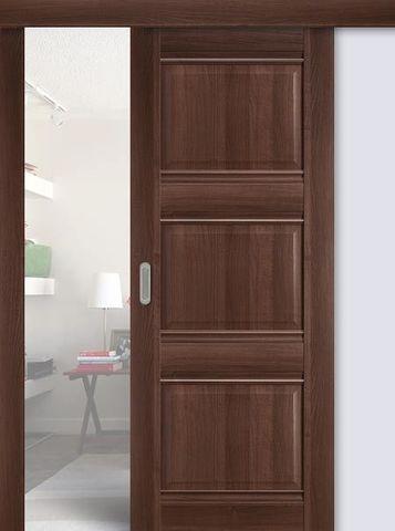 > Экошпон раздвижная Profil Doors №3Х-Классика, цвет орех сиена, глухая