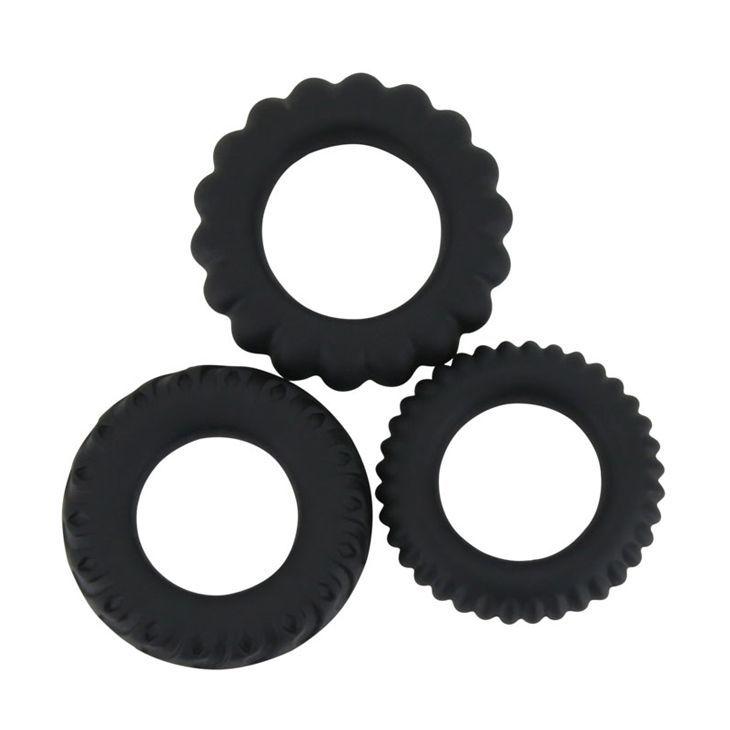 Эрекционные кольца: Набор Titan из 3 эрекционных колец, имитирующих автомобильные шины