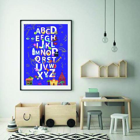 Набор из 2-х плакатов  «Алфавит» Черный + Фиолетовый