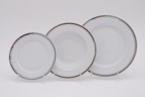 Набор тарелок 18 предметов с десертными тарелками 19 см Сабина Leander