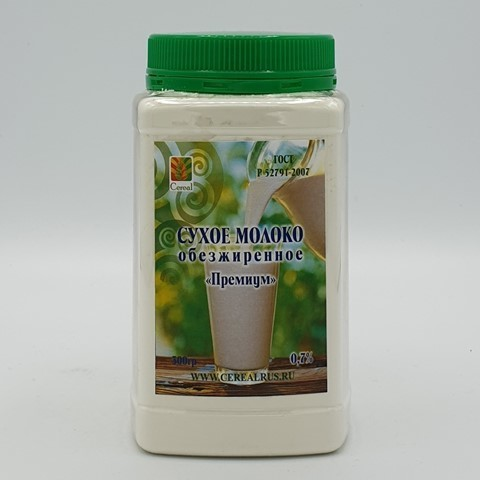 Молоко сухое обезжиренное Премиум 0.7% CEREAL, 300 гр
