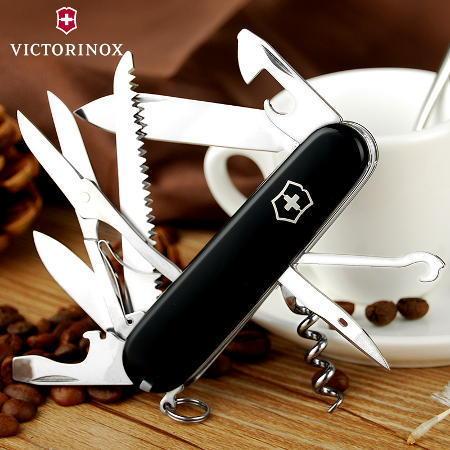 Складной нож Victorinox Huntsman Black (1.3713.3) 91 мм., 15 функций, цвет чёрный - Wenger-Victorinox.Ru