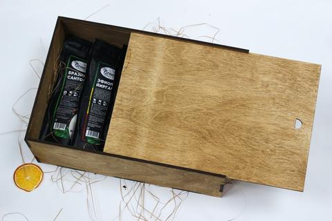 Большой кофейный набор №2 в деревянном коробе