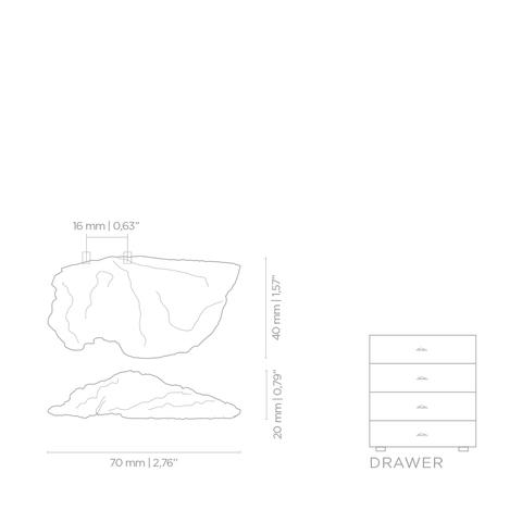 Мебельная ручка PullCast FUNGI EA1031