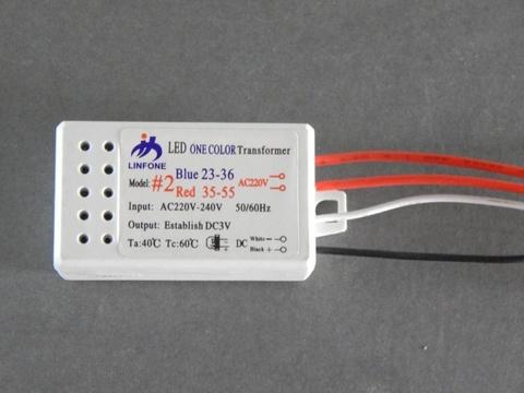 Драйвер LED для одноцветных и многоцветных диодов 23-36 (1шт) (130905009)