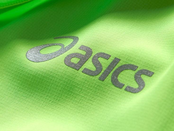 Женский беговой костюм с ветрозащитой Asics Woven WindBlock (110426 0473-121129 0904) салатовый фото