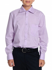 616D-3 рубашка для мальчиков, сиреневая