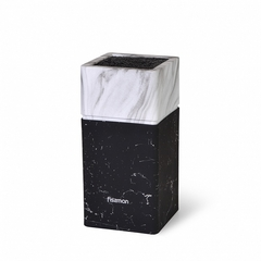 2878 FISSMAN Подставка для хранения ножей 11x11x23см, цвет МРАМОР (пластик)