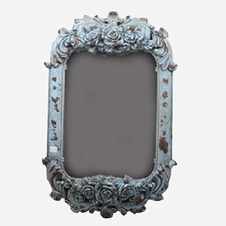 Зеркало настенное Decor голубое 85103AB