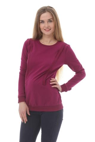 Джемпер для беременных и кормящих 10182 фиолетовый