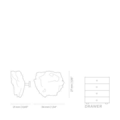 Мебельная ручка PullCast CATHA EA1020