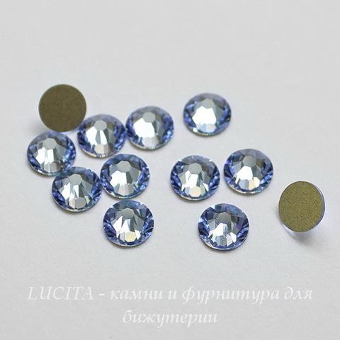 2058 Стразы Сваровски горячей фиксации Light Sapphire  ss12 (3-3,2 мм), 10 штук