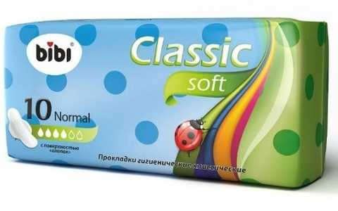 Bibi прокладки Классик Нормал Софт 10 шт