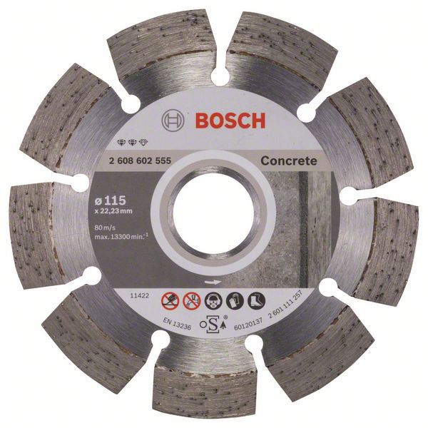 Алмазный диск Expert for Concrete 115-22,23 Bosch 2608602555