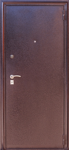 Дверь входная Н-4 стальная, орех, 2 замка, фабрика Арсенал