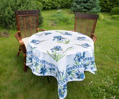 Скатерть 140x140 Blonder Home Iris синяя