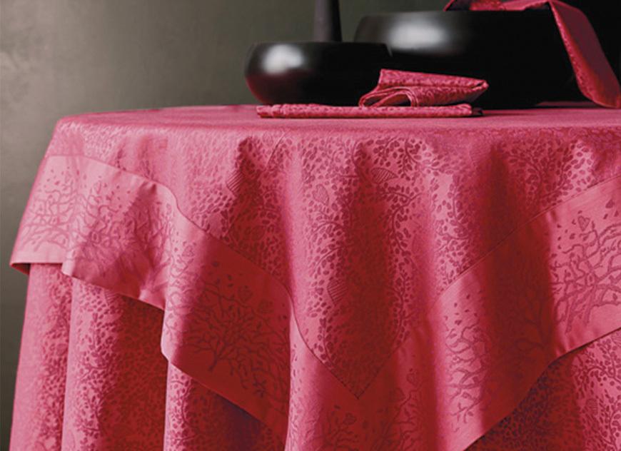 Скатерть и комплект салфеток Blanc des Vosges Arbre rouge