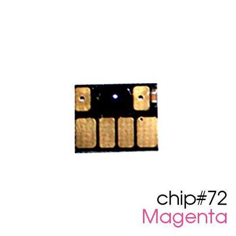 Чип для картриджей (ПЗК/ДЗК) HP 72 Magenta для DesignJet T790, T795, T610, T2300, T770, T1300, T1200, T1120, T620, T1100 (авто обнуляемый), пурпурный
