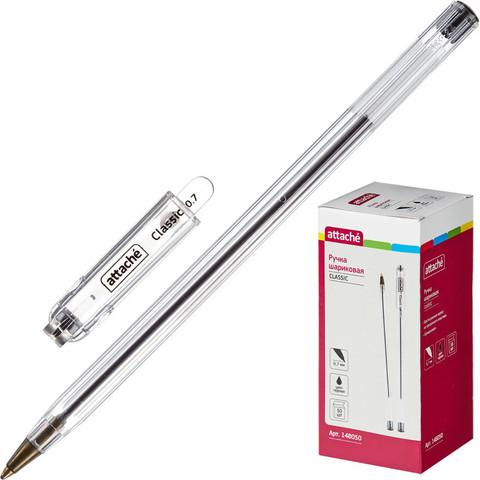Ручка шариковая Attache Classic 0,7мм черный ст.