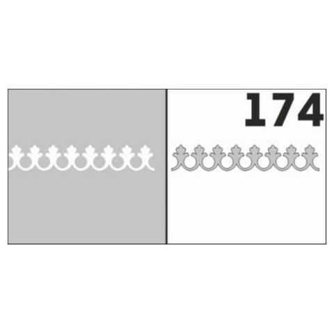 Трафарет для ногтей 6 шт. /1 уп. №174