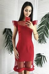 Лола. Оригинальное молодежное коктейльное платье. Красный