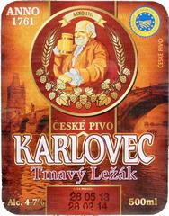 Пиво Karlovec Tmavy Lezak