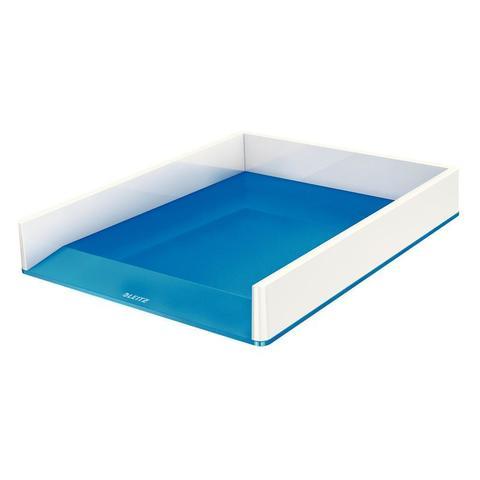 Лоток для бумаг Leitz WOW двухцветный синий/белый
