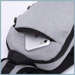 Рюкзак однолямочный повседневный КАКА 99010 чёрный