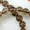 Бусина Кварц, шарик, цвет - дымчатый, 8 мм, нить