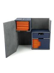 Ultimate Guard - Двойная кожаная синяя коробочка с отделением для кубиков