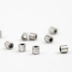 Кримпы - зажимные бусины - трубочки TierraCast 1,9х1,8 мм (цвет-серебро), 10 штук