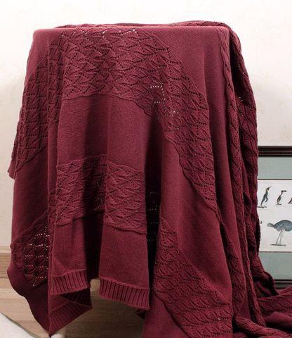 Элитный плед -покрывало Imperio 283 винный от Luxberry