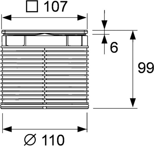 Декоративная решетка TECEdrainpoint S, 100 мм, в стальной рамке, с монтажным элементом