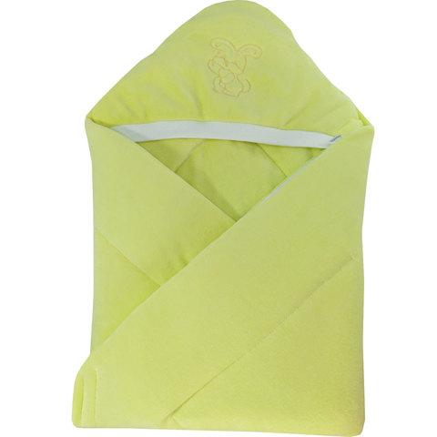 Папитто. Конверт-одеяло велюр с вышивкой, желтый вид 1
