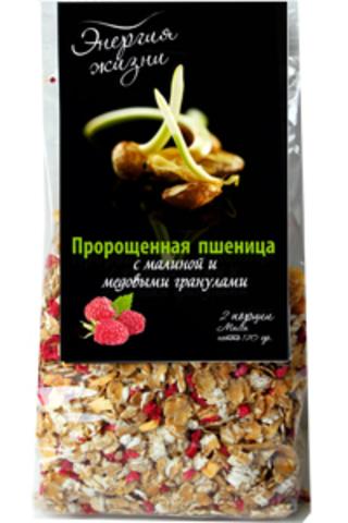Пророщенная пшеница с малиной и медовыми гранулами 'Здоровая еда', 120г