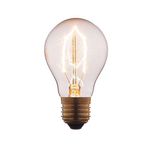 Лампа накаливания E27 40W груша прозрачная 1001