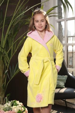 PRINCESS (лимон) детский халат для девочки  Five Wien Турция