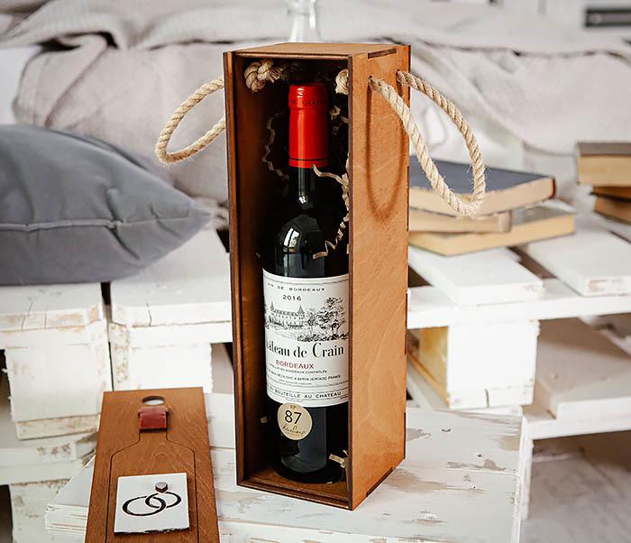 BOX260-2 Коробка для винной церемонии на свадьбу (33*10*10,5 см) фото 10
