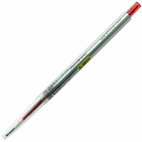 Гелевая ручка 0,38 мм Uni Style Fit - Red - красные чернила