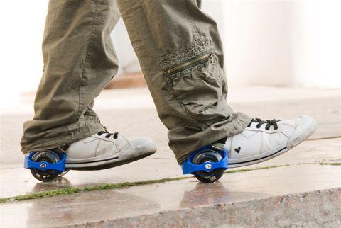 Мини-ролики раздвижные для обуви, светящиеся колеса, цвет МИКС