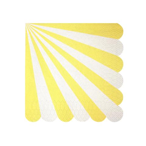 Салфетки в желтую полоску, мал.