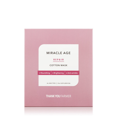 Маска THANK YOU FARMER Miracle Age Repair Cotton Mask 5 шт.