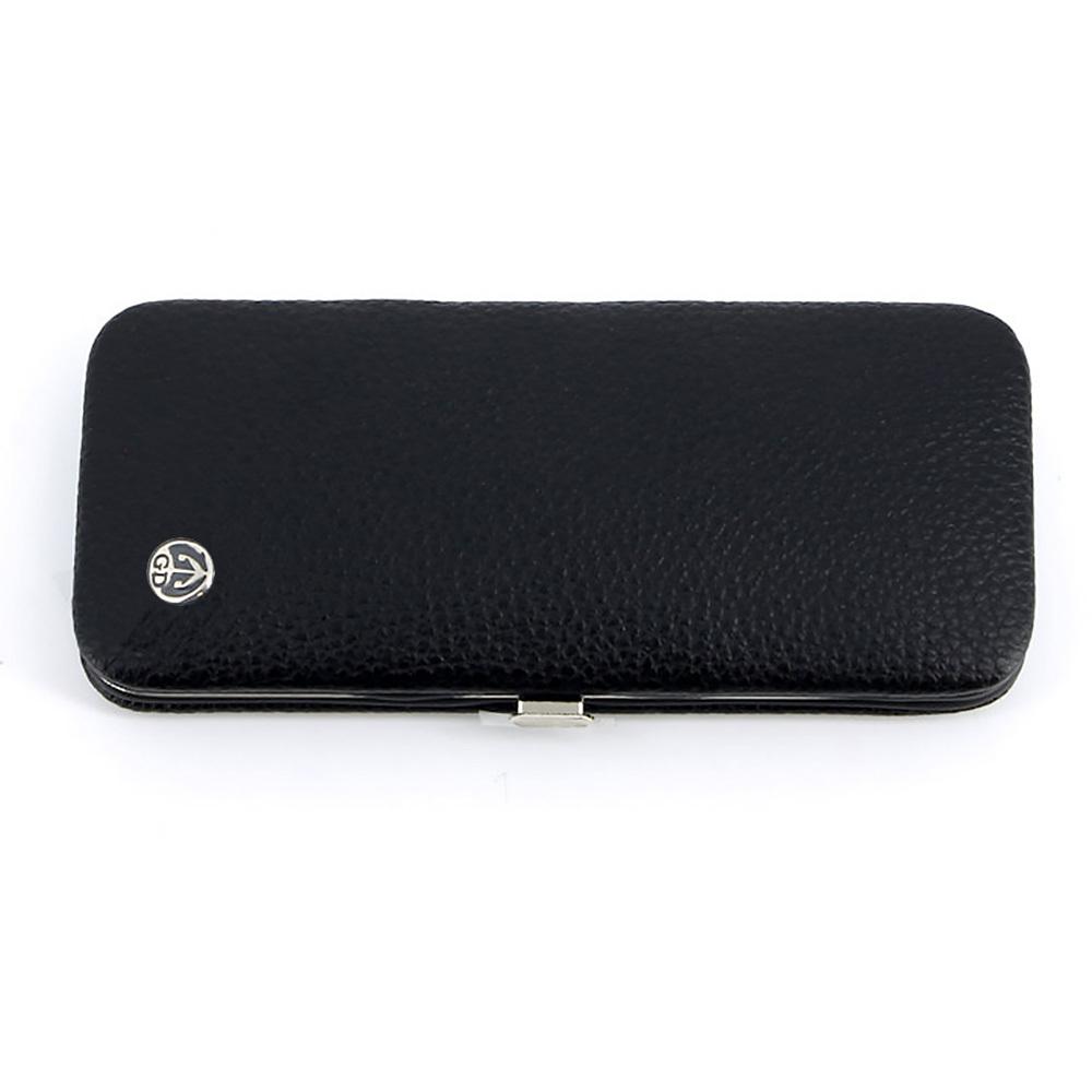 Маникюрный набор Dovo, 5 предметов, цвет черный, кожаный футляр