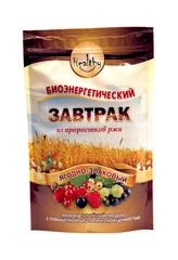 Биокаша Мультизлаковая с пророщенной гречкой, пшеницей, овсом, кедровым орехом, 220 гр. (Натурпродук