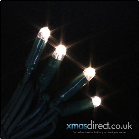 LED гирлянда бахрома на пвх проводе 5 м на 0,7 теплый белый цвет
