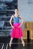 Зигзаг ритм розовый (двусторонняя репетиционная юбка)