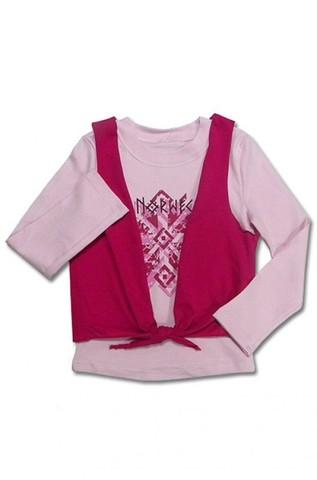 Basia Джемпер для девочки с жилеткой