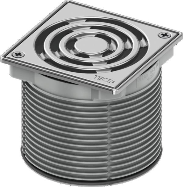 Декоративная решетка TECEdrainpoint S, 100 мм, в стальной рамке, с фиксаторами, с монтажным элементом