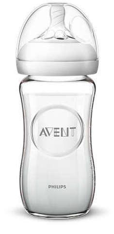 Avent. Бутылочка для кормления Natural, стекло, 240 мл